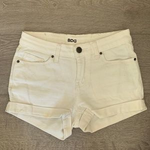 Urban Outfitters BDG White Denim Jean Shorts